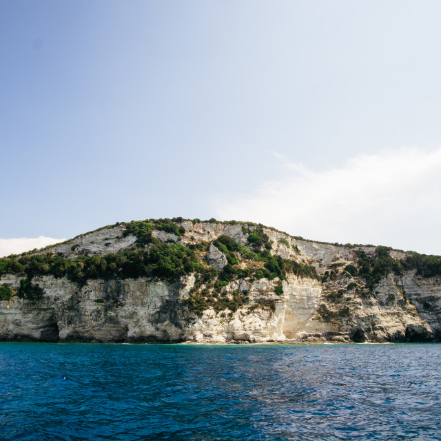 """""""Cliffs of Paxos, Greece"""" stock image"""