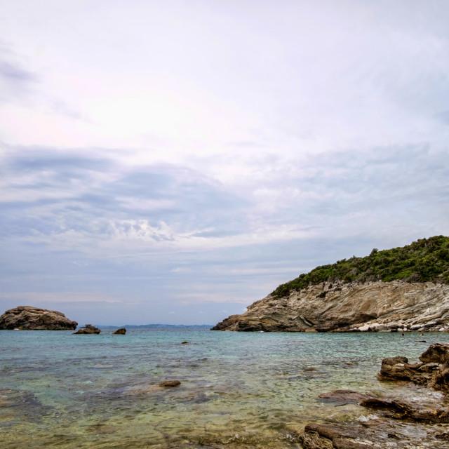 """A beach in Paxos, Greece"" stock image"