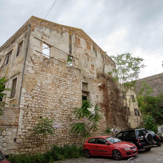 """A building in Corfu, Greece."" stock image"