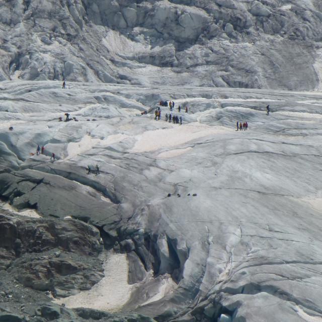 """Glacier walk"" stock image"