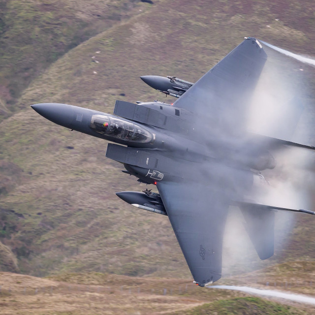 """""""Eagle through The Bwlch Exit"""" stock image"""