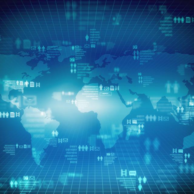 """Internet Technology Multimedia network"" stock image"