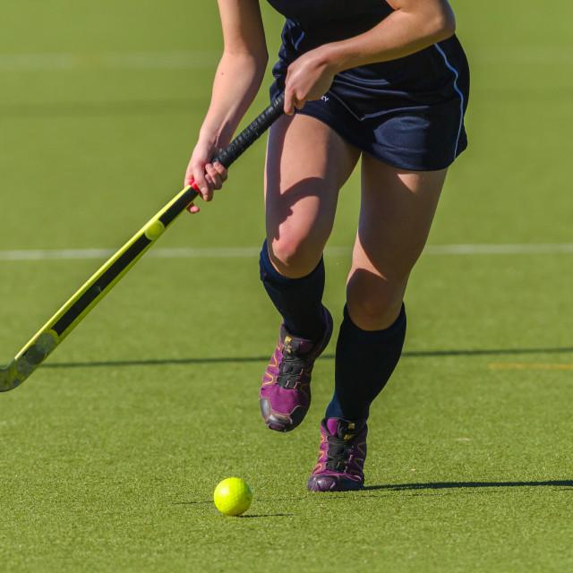 """Hockey Action Girl Ball Stick Abstract"" stock image"