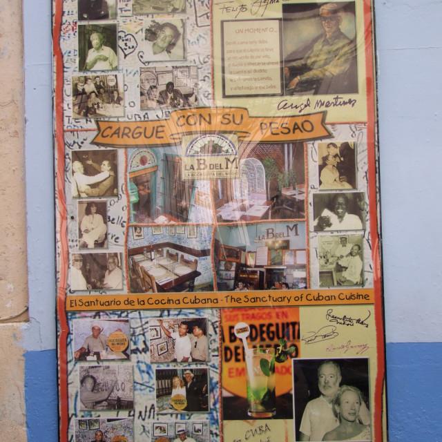 """""""Visitor Record, La Bodeguita del Medio"""" stock image"""