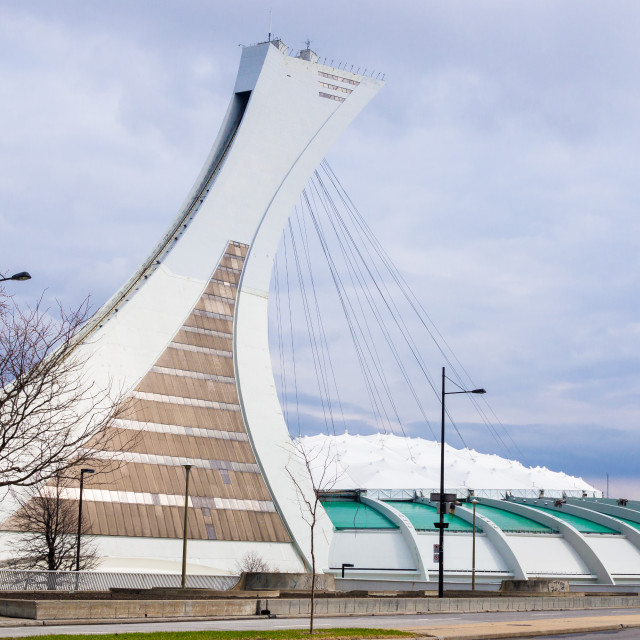 """""""Montreal Tower and Olympic Park - Montreal, Canada"""" stock image"""