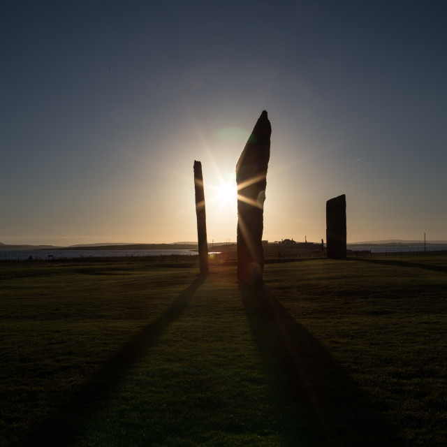 """Standing Stones of Stenness, Orkney"" stock image"