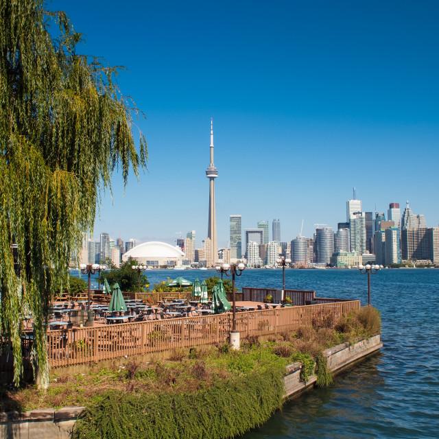 """Toronto skyline from Toronto Island"" stock image"