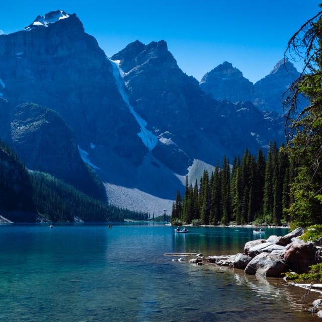 """Moraine Lake - Banff National Park, Canada"" stock image"