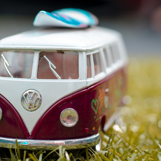 """""""Model of a VW Volkswagen Camper Van"""" stock image"""