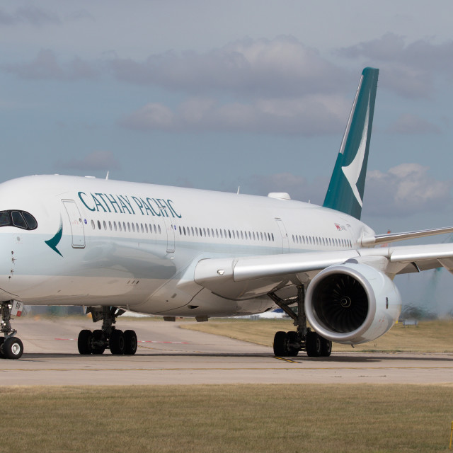 """4B9A5101 A350 B-LRV EGCC 180804"" stock image"