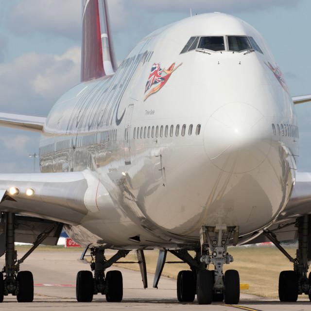 """4B9A5667 747 G-VBIG 180804 EGCC"" stock image"