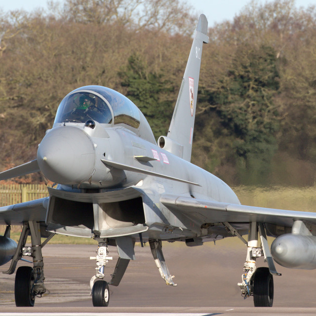 """""""4B9A4923 ZJ812 Typhoon T3 180207 EGXC"""" stock image"""