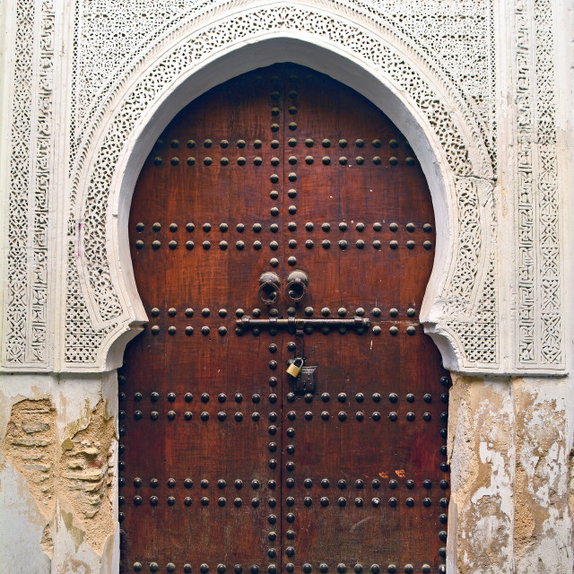 """Moroccan Door"" stock image"