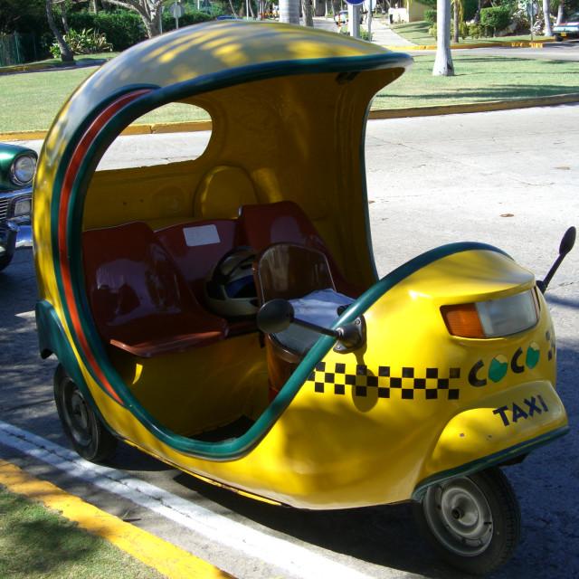 """""""Coco Taxi, Varadero"""" stock image"""