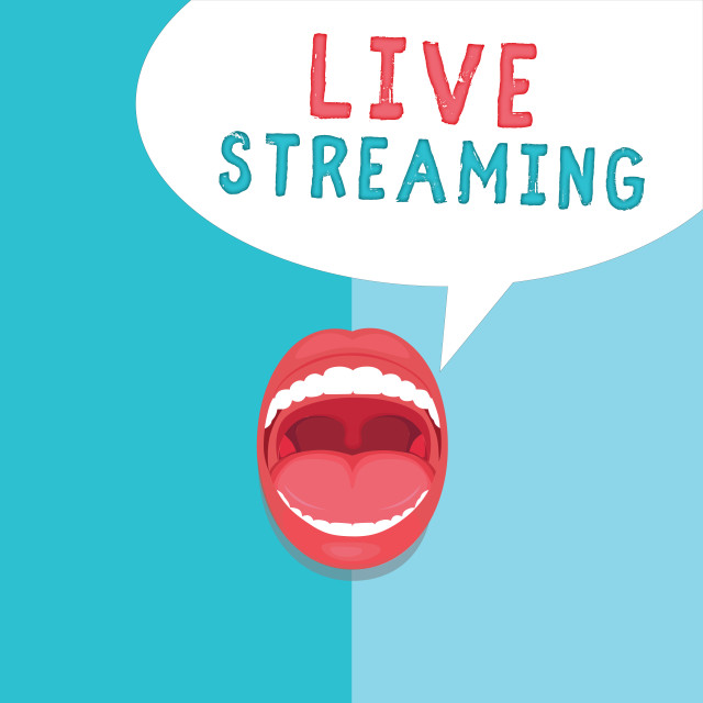 """""""Word writing text Live Streaming. Business concept for Transmit live video..."""" stock image"""