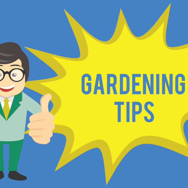 """""""Handwriting text writing Gardening Tips. Concept meaning Proper Practices in..."""" stock image"""