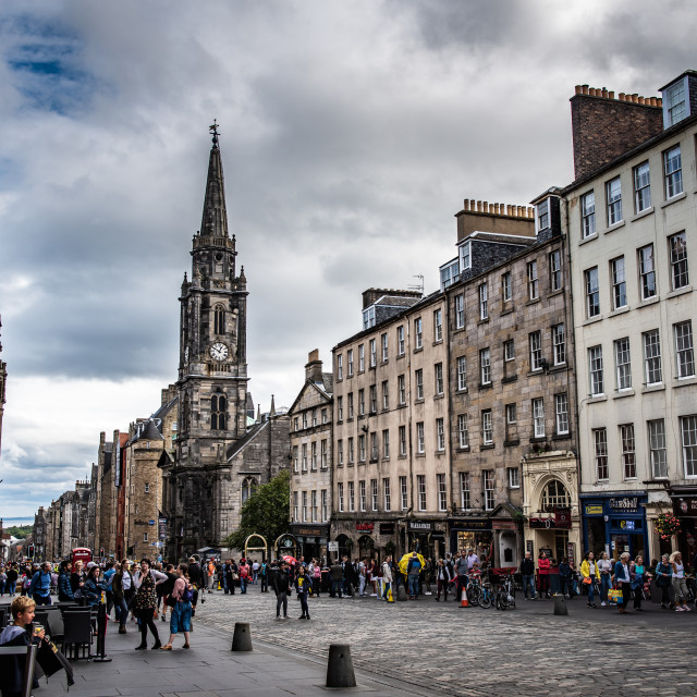 """The Royal Mile"" stock image"