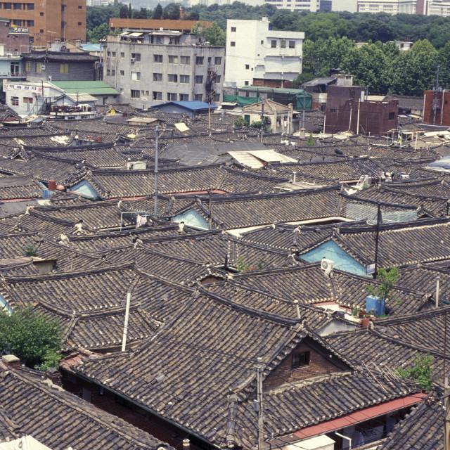 """SOUTHKOREA SEOUL CITY OLD TOWN"" stock image"