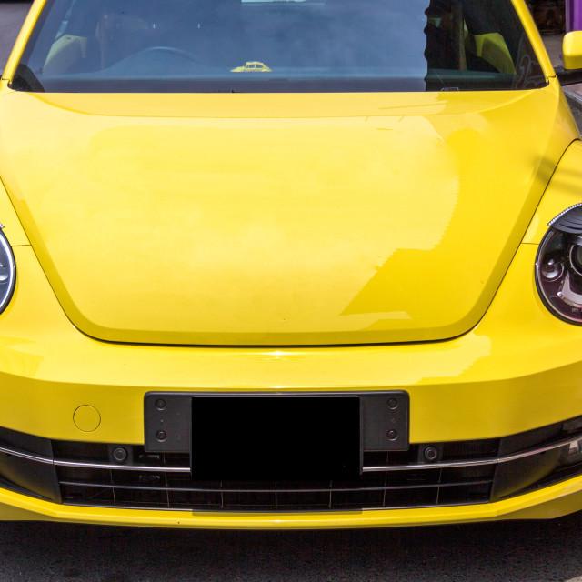 """Car Headlight Eyelashes on Volkswagen Beetle car"" stock image"