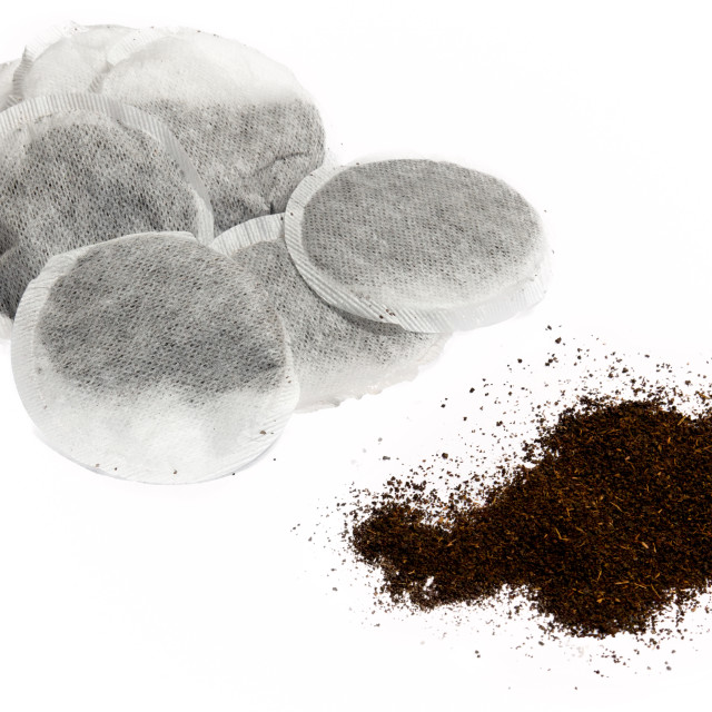"""""""Teabags and loose tea"""" stock image"""