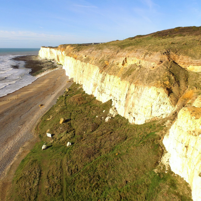 """Chalk cliffs along South East England."" stock image"