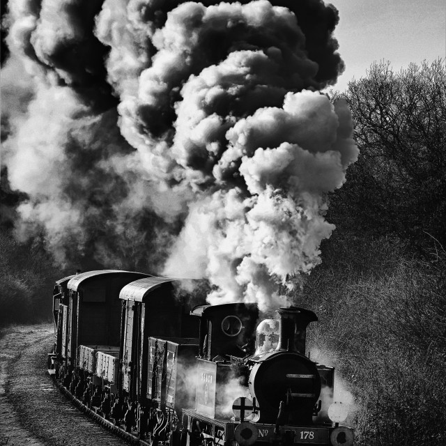 """""""P Class on early morning goods."""" stock image"""
