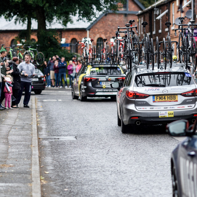 """Tour of Britain stage 7 Newstead village,Nottingham, UK"" stock image"