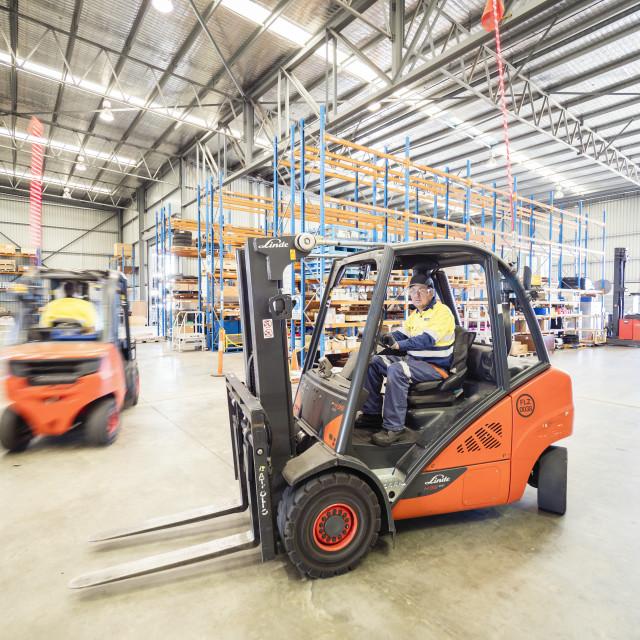 """Warehouse working"" stock image"