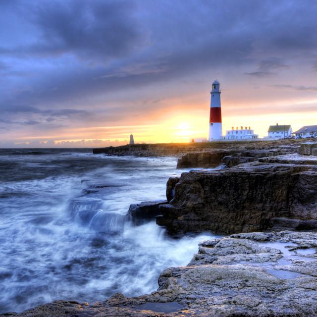 """Last light - Dorset"" stock image"