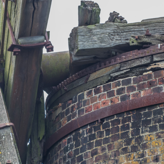 """Brograve level drainage mill, Norfolk"" stock image"