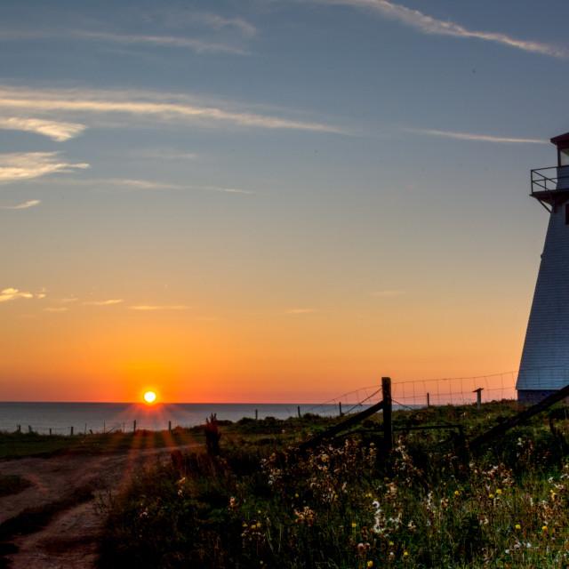 """Cape Tryon Sunburst"" stock image"