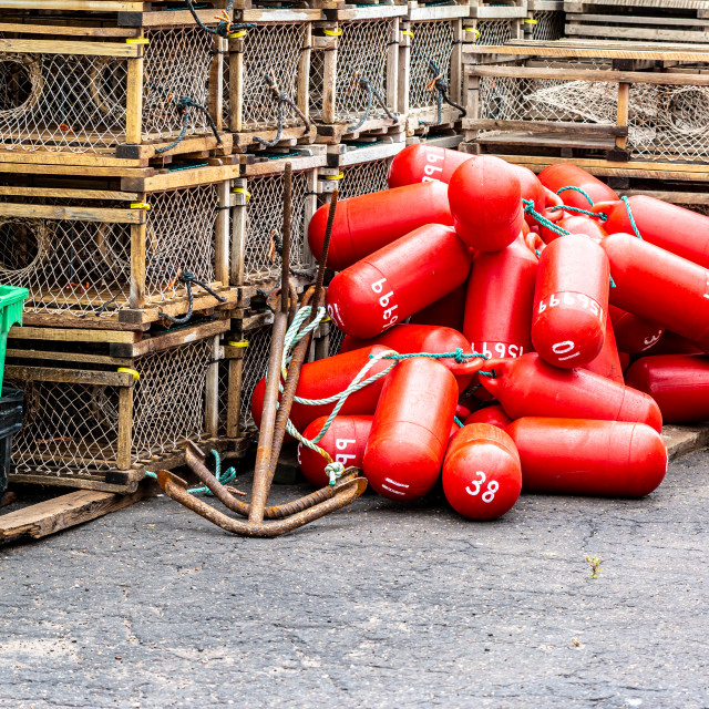 """Colorful Wharfside"" stock image"
