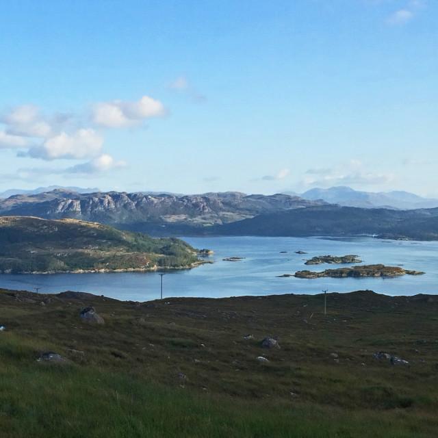 """Scottish Highlands Panorama"" stock image"