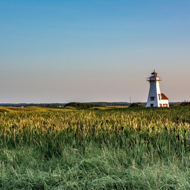 """New London Harbour Lighthouse Prince Edward Island"" stock image"