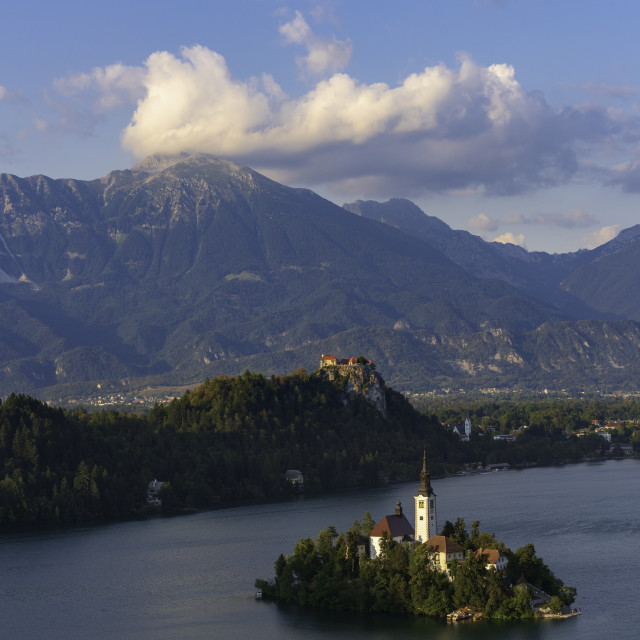 """Bled Lake"" stock image"
