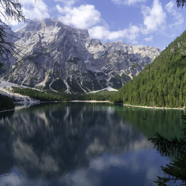 """Braies Lake"" stock image"