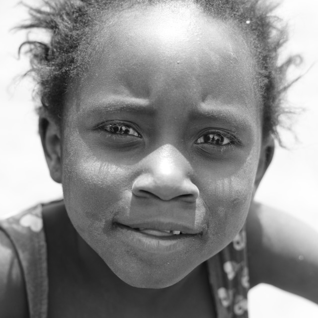 """Portrait of a Zambian girl - 2"" stock image"