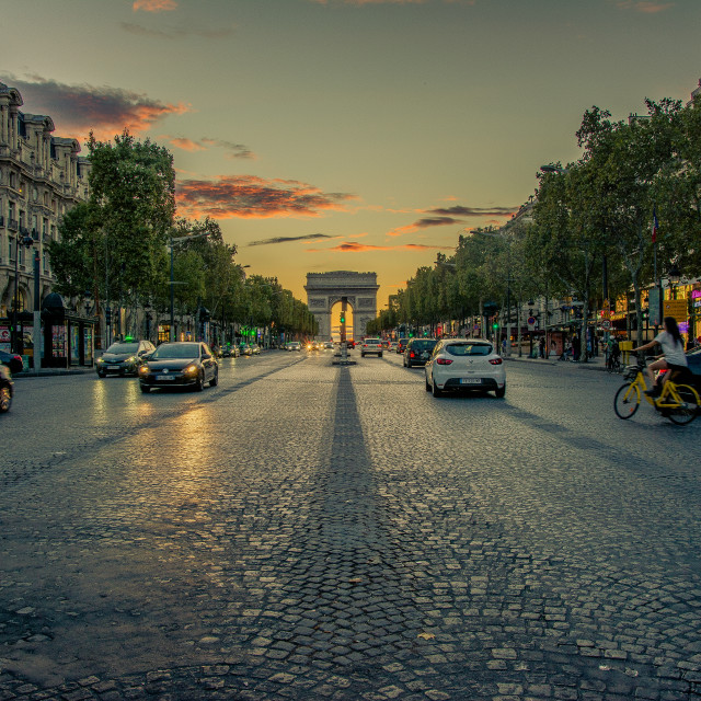 """""""Champs Elysees"""" stock image"""