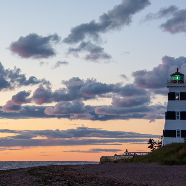 """""""Pastel Skies Over West Point Lighthouse"""" stock image"""