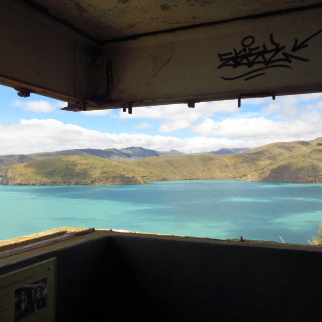 """Wartime bunker, New Zealand"" stock image"