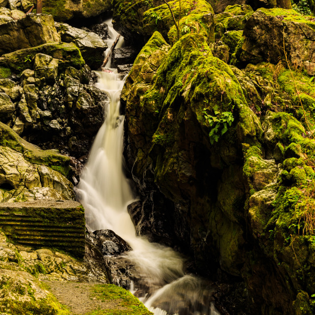 """Sychrhyd Falls"" stock image"