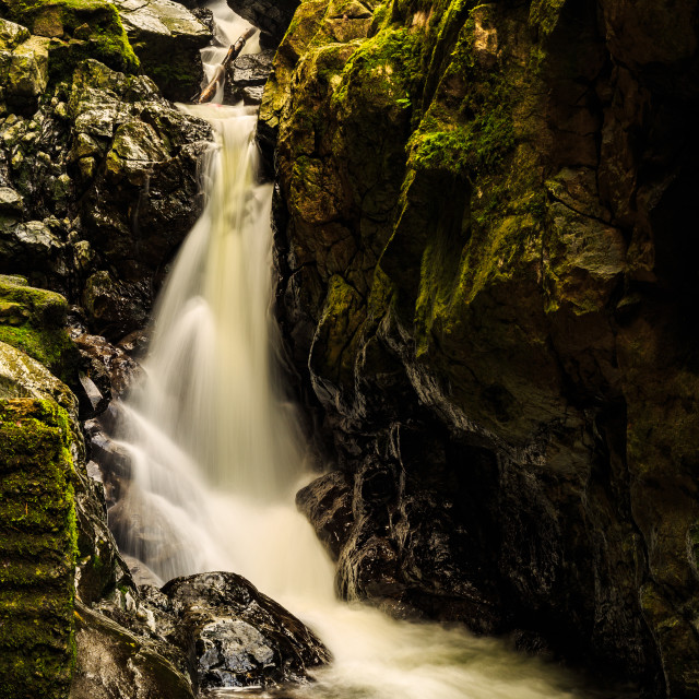 """Sychrhyd Cascade"" stock image"