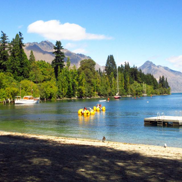 """Lake Wakatipu"" stock image"