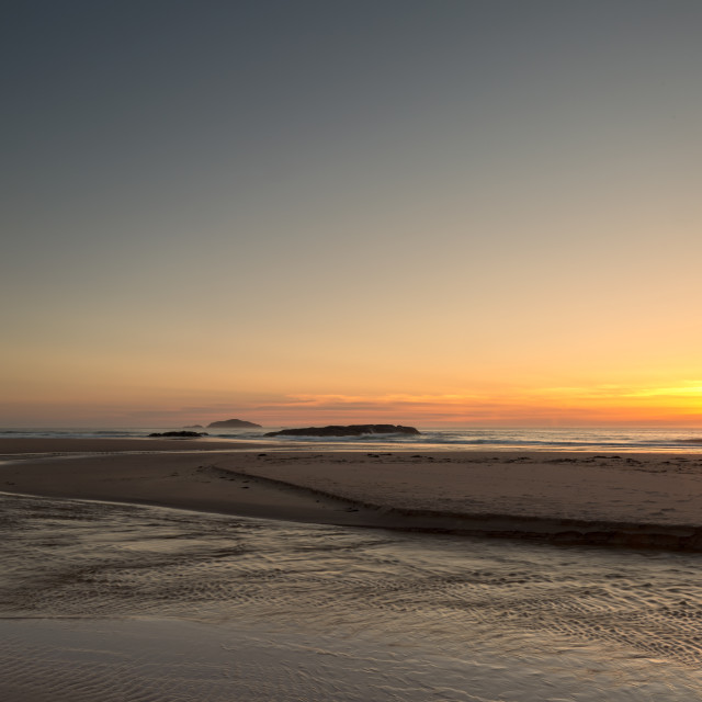 """Sandwood Bay Sunset"" stock image"