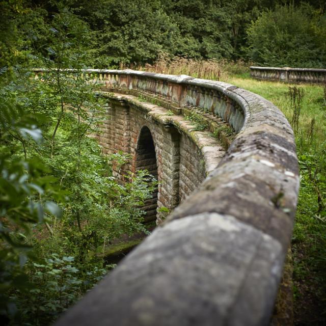 """Ornamental curved bridge"" stock image"