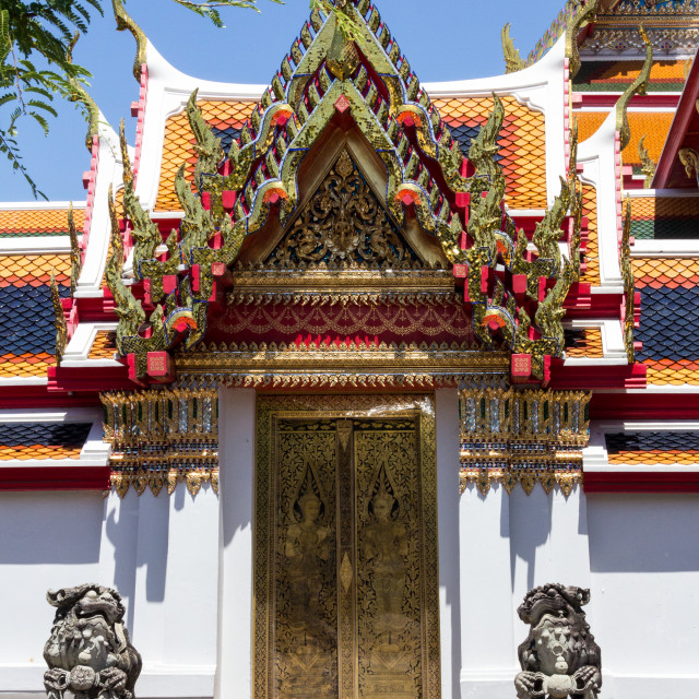 """Wat Po, Wat Pho, Bangkok, Thailand"" stock image"