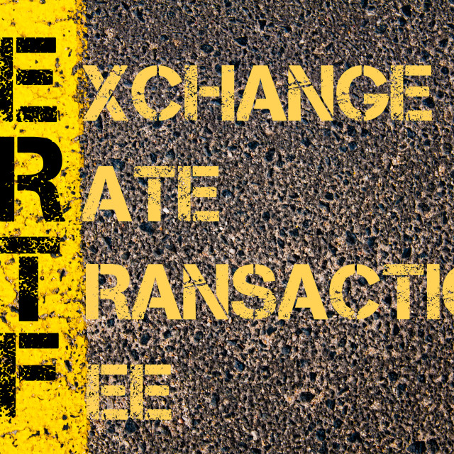 """Business Acronym ERTF as Exchange Rate Transaction Fee"" stock image"