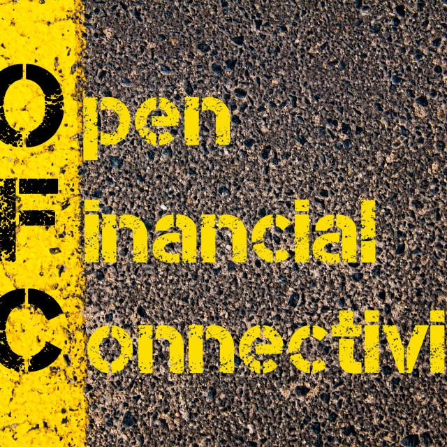 """""""Accounting Business Acronym OFC Open Financial Connectivity"""" stock image"""