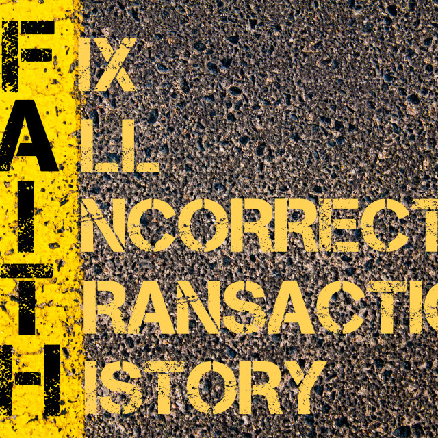 """Business Acronym FAITH as Fix All Incorrect Transaction History"" stock image"