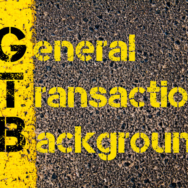 """Business Acronym GTB as General Transaction Background"" stock image"